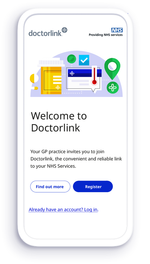 Welcome to Doctorlink on mobile phone